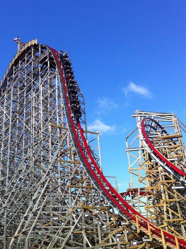 Texas Giant New Photo From Six Flags Over Texas Coasterbuzz Roller Coaster Ride Roller Coaster Amusement Park Rides