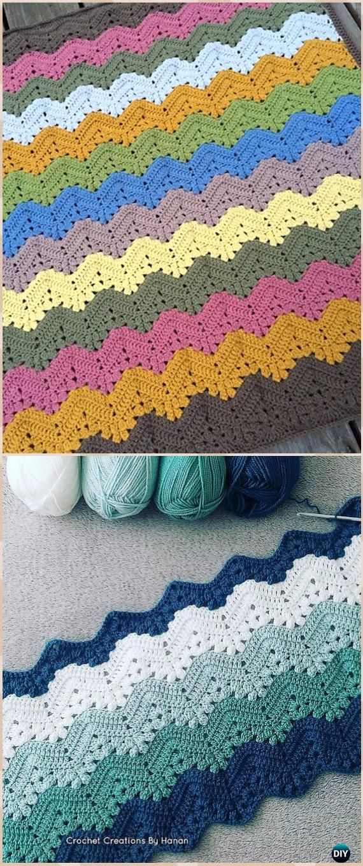Crochet Rainbow Blanket Free Patterns   Manta, Ganchillo y Tejido