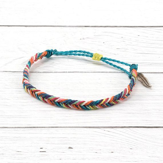4695dd677 Colorful Braided Fishtail Bracelet (The order of the colors will vary for  each bracelet made) Mix and match our anklets and bracelets for the perfect  ...