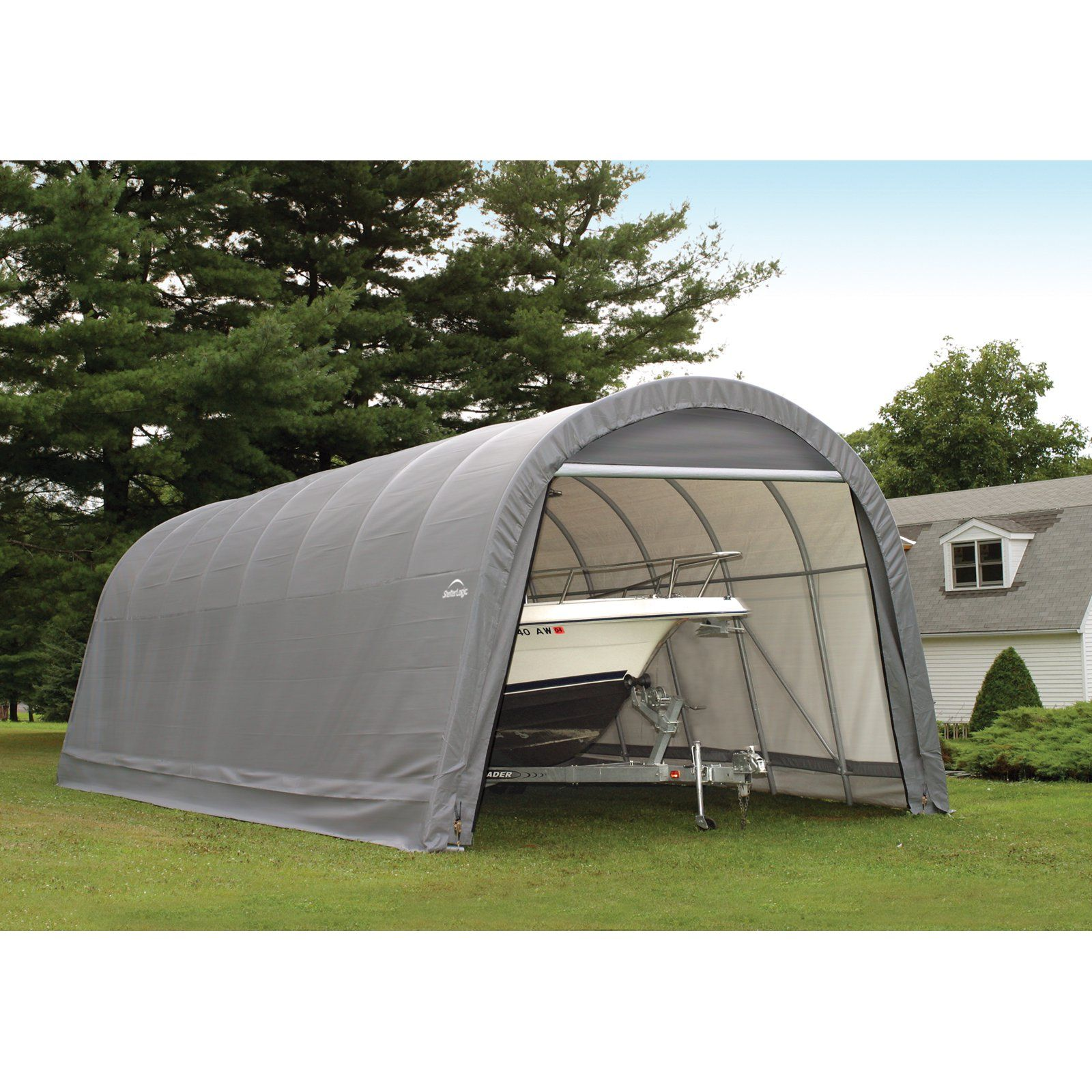 ShelterLogic RoundTop 15 x 24 x 12 ft. Round Frame Garage