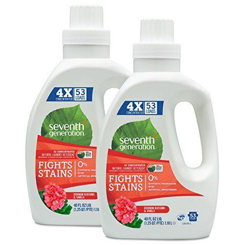 Seventh Generation Natural Laundry Detergent Geranium Blossoms And