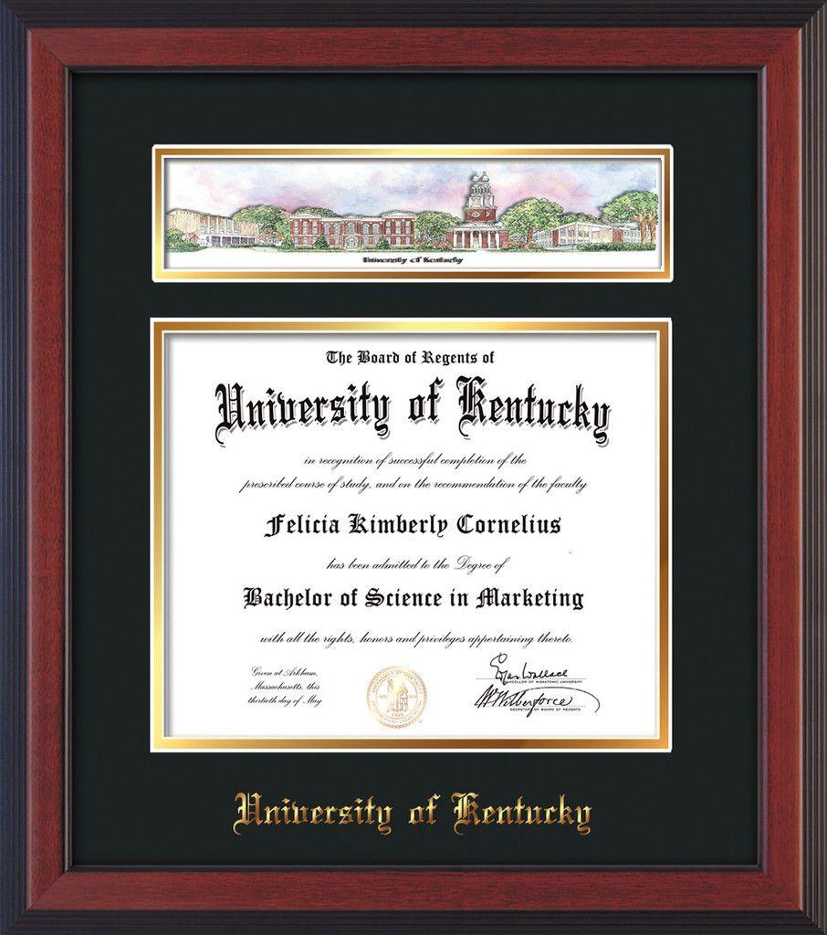 Großartig Universität Von Kentucky Diplom Rahmen Bilder ...