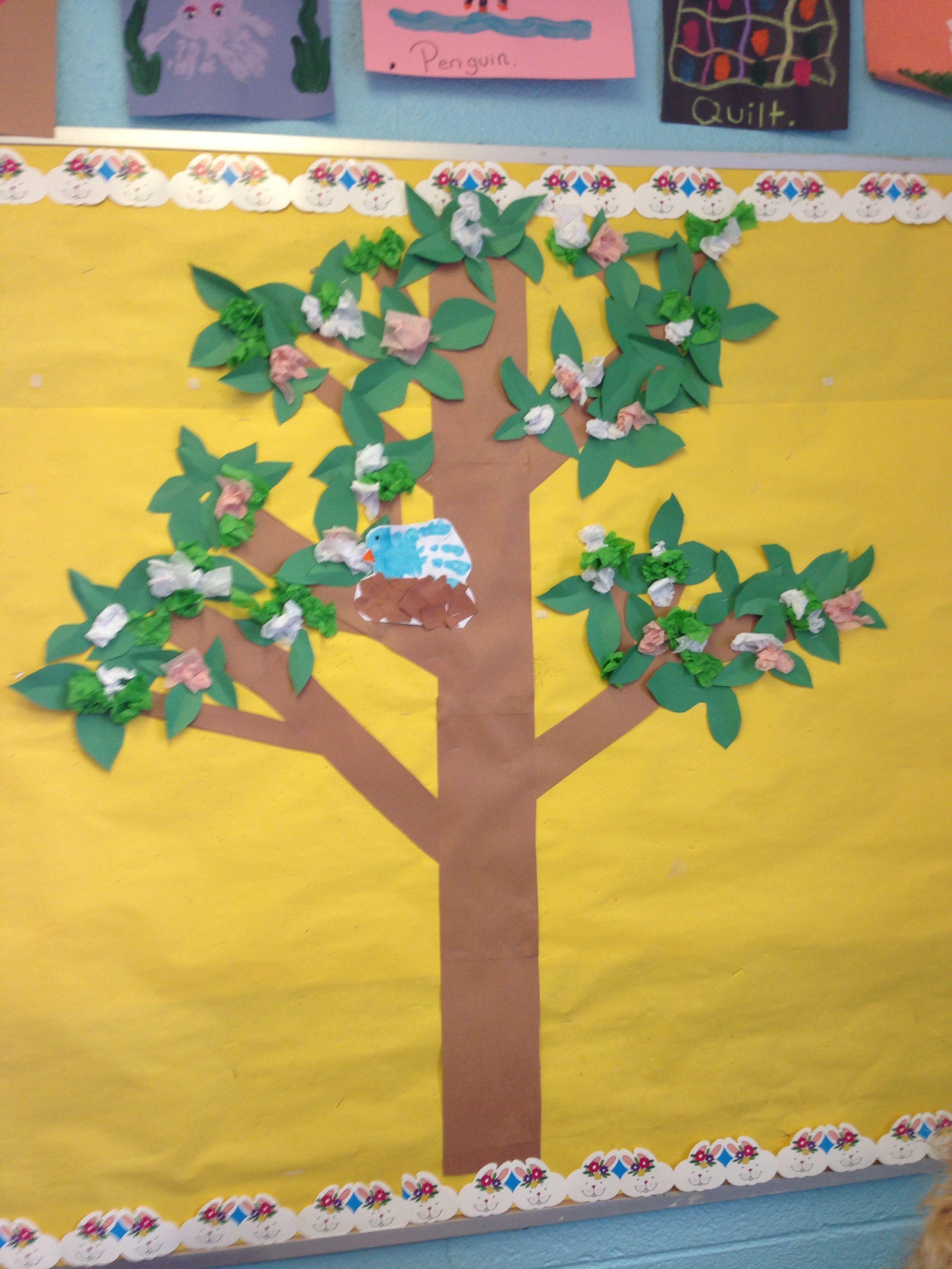 Spring Tree Bulletin Board