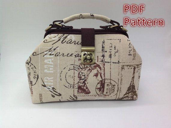 PDF Sewing Pattern,Doctor Bag Pattern,Doctor Frame Bag Pattern, DIY ...
