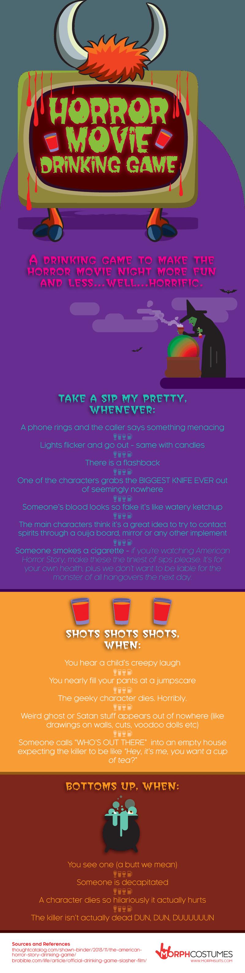 horror movie drinking game ig
