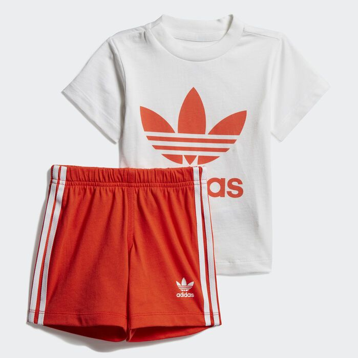 adidas Originals TREFOIL TEE Orange Kleidung T Shirts Damen 25