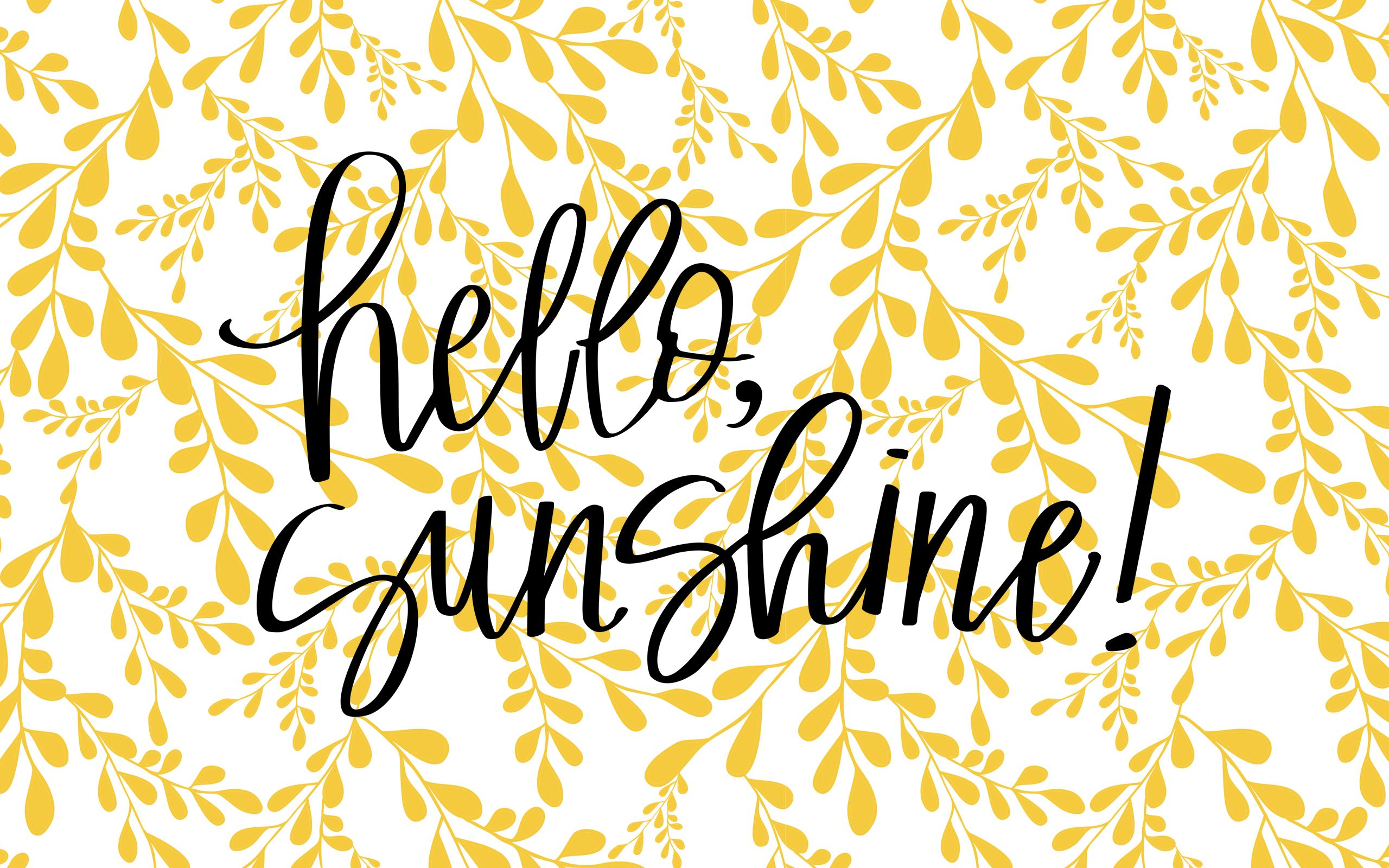 2560x1600_Display_Hello Sunshine Laptop wallpaper