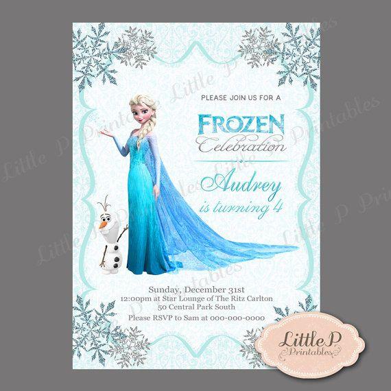 frozen invitation frozen birthday invitation frozen party for