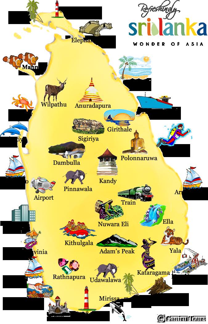 Pinnawala Carte Sri Lanka.Sri Lanka Picture Map Travel In 2019 Sri Lanka Adam S