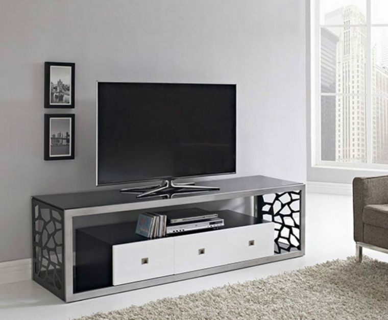 Muebles para tv con dise o moderno a la ltima vestidos for Diseno de muebles para tv modernos