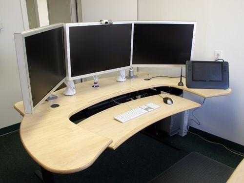 Biomorph Multi Desk with Maple Finish