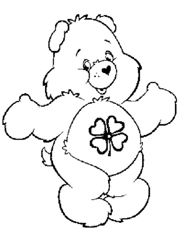 Good Luck Bear Coloring Pages Bear Coloring Pages Coloring Pages