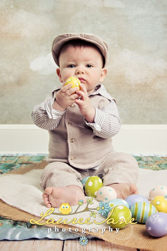 Easter Baby Photo Idea, Easter Newborn Photo Idea, Clouds, Baby Holiday Photographer Erie, PA, Lauree Jane Photography