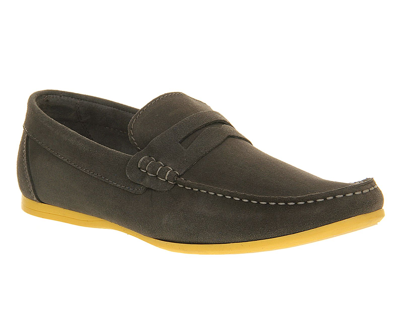 064eb507636 Ask the Missus Orlando Penny Loafer Grey Suede Yellow Sole - Casual ...