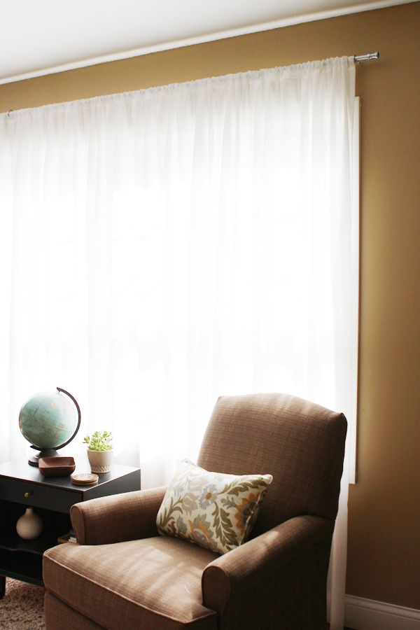 $7 CURTAIN ROD DIY (With images) | Diy curtain rods ...