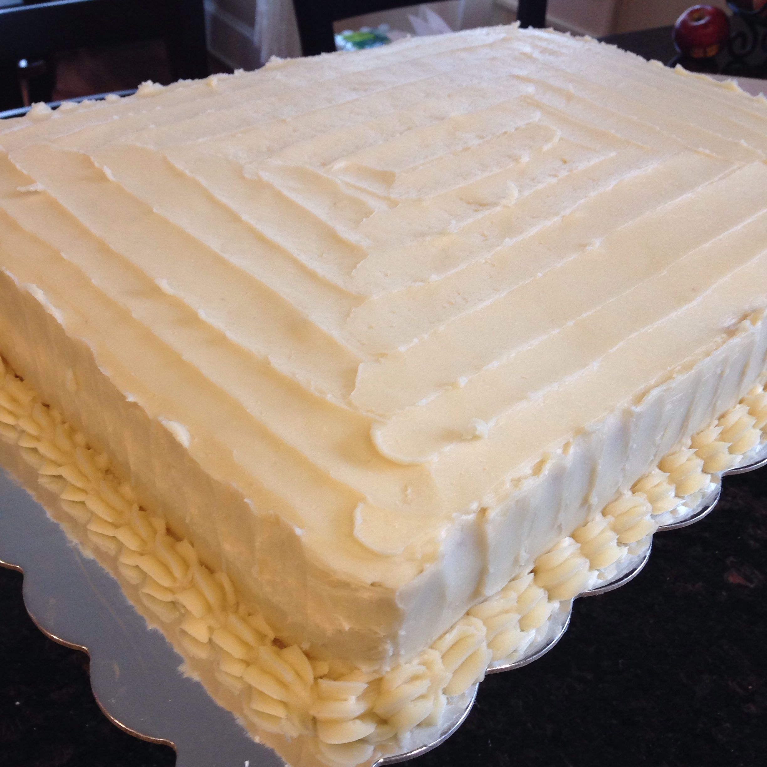 Rustic iced sheet cake Base add pumpkins flowers in autumn