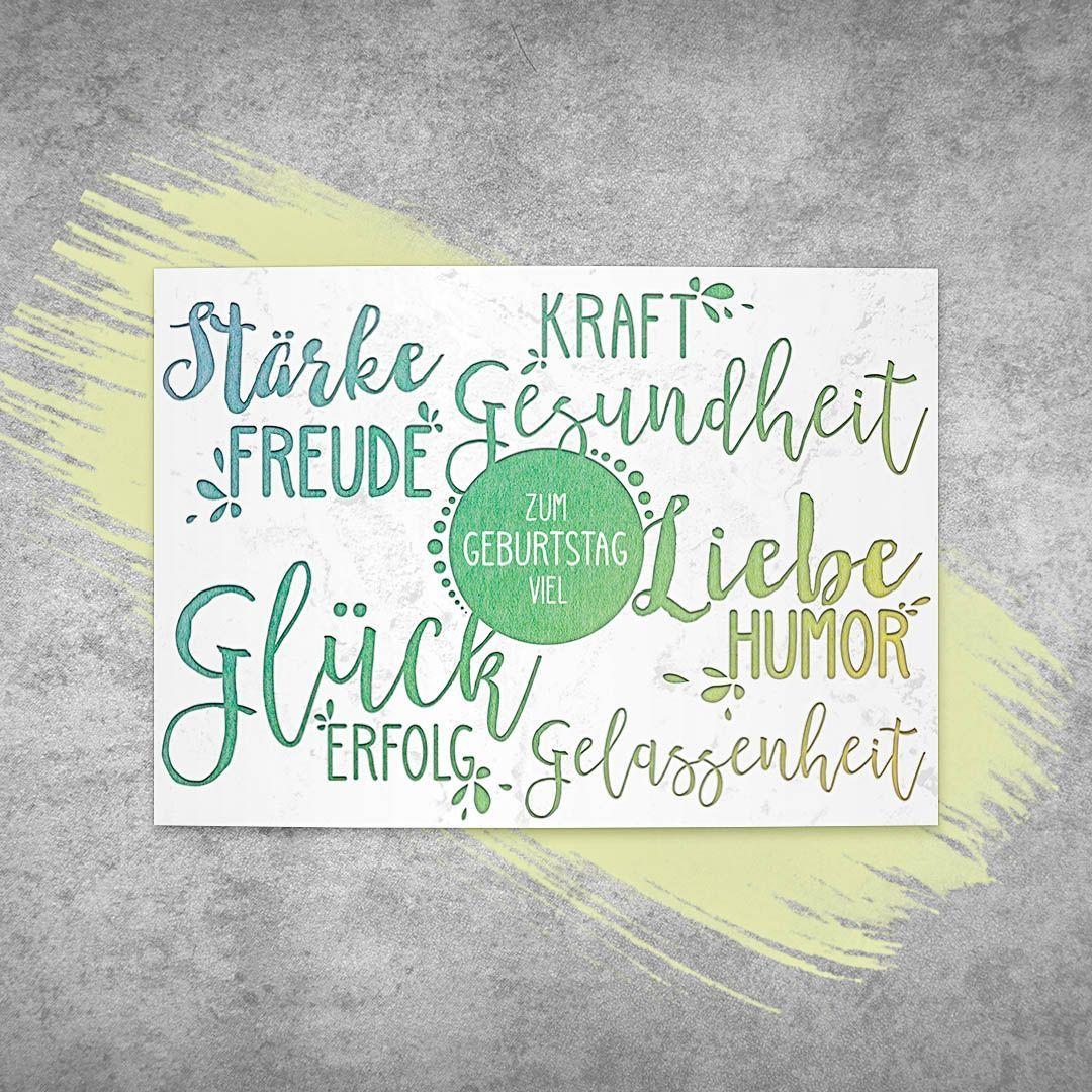 Geburtstagskarte Glckwunschkarte Birthdaycard Gelassenheit