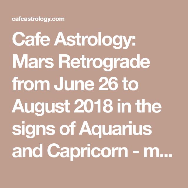 Aquarius cafe astrology