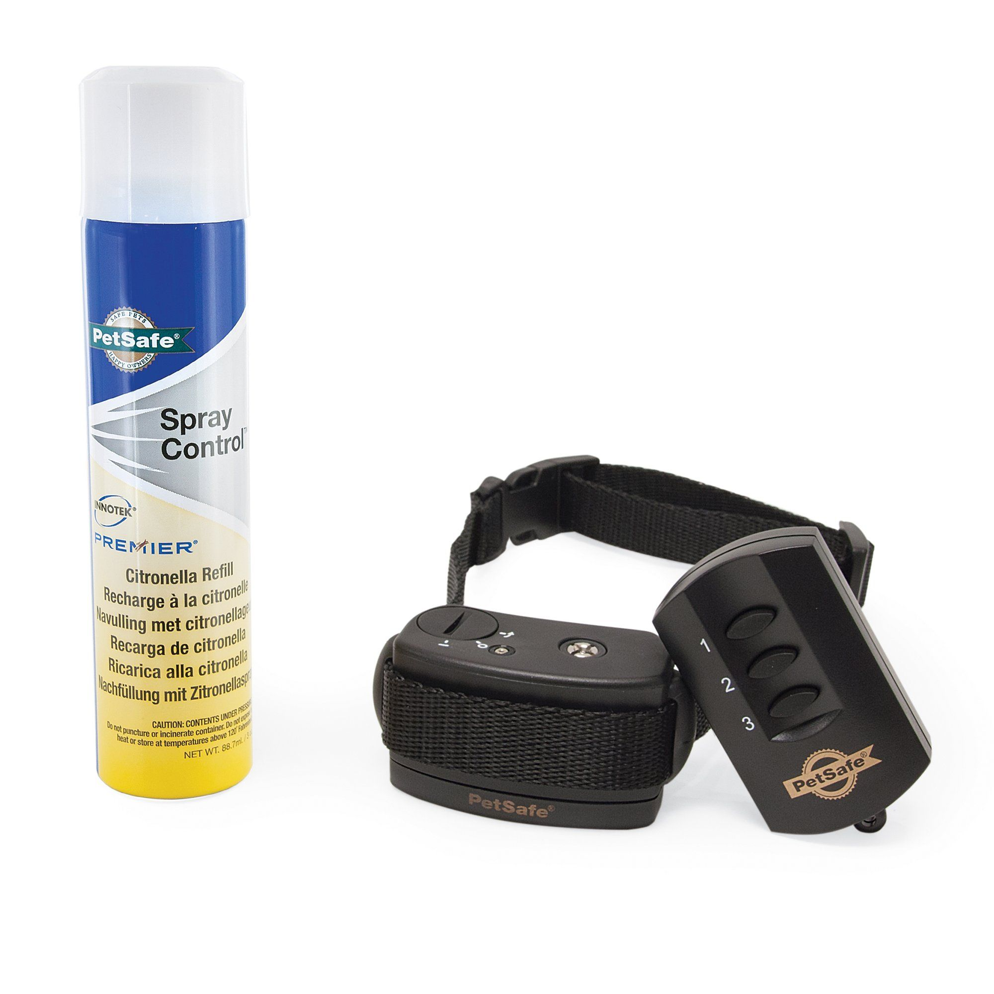 With the PetSafe Spray Commander Dog Trainer's 2 levels of