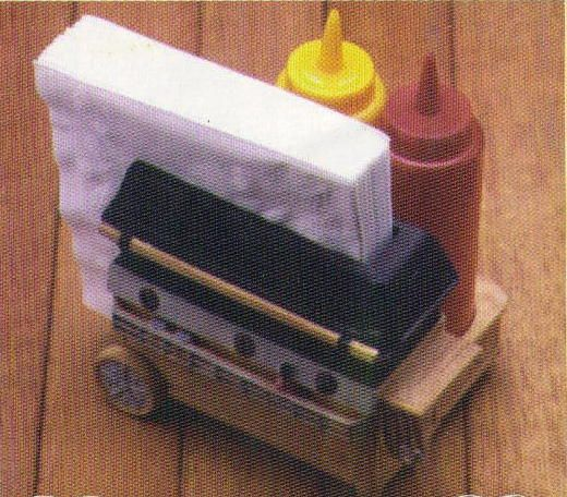 Natureu0027s Legacy Napkin Condiment Holder Grill Cart. Adorable Tabletop  Condiment And Napkin Holder Includes Plastic Ketchup And Mustard Bottles  Napkins Not ...