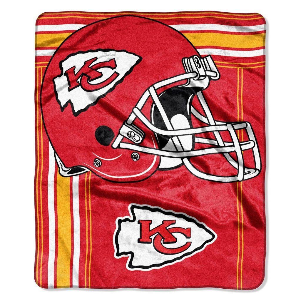 Kansas City Chiefs Blanket 50x60 Raschel Touchback Design