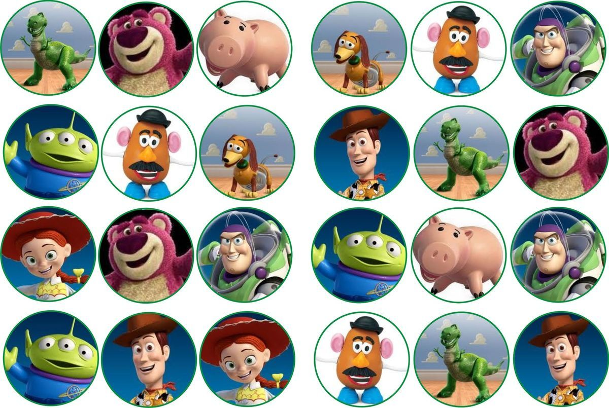 TOY STORY 3 RICE PAPER BUN CAKE TOPPERS X 24   Toy Story ...