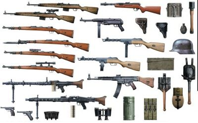 The weapons in world war two varied from country to country, however they were mostly in the same sort of fields. The Germans weaponry was the most advanced weaponry in World War 2.