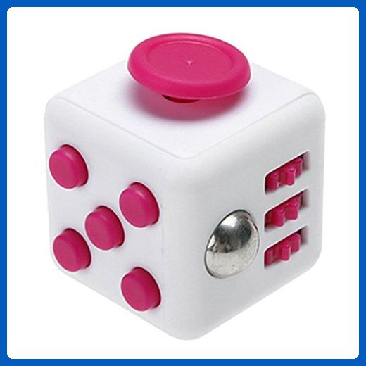 CHIRISEN Fidget Toy Relieves Stress And Anxiety for Children and Adults Anxiety Attention Toy (Pink) (Cube, White Rose) - Fidget spinner (*Amazon Partner-Link)