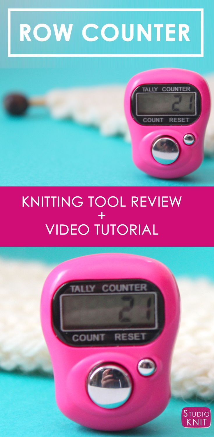 Knitting With A Digital Row Counter With How To Knit For Beginning