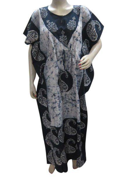 kaftan dress batik print cotton caftan