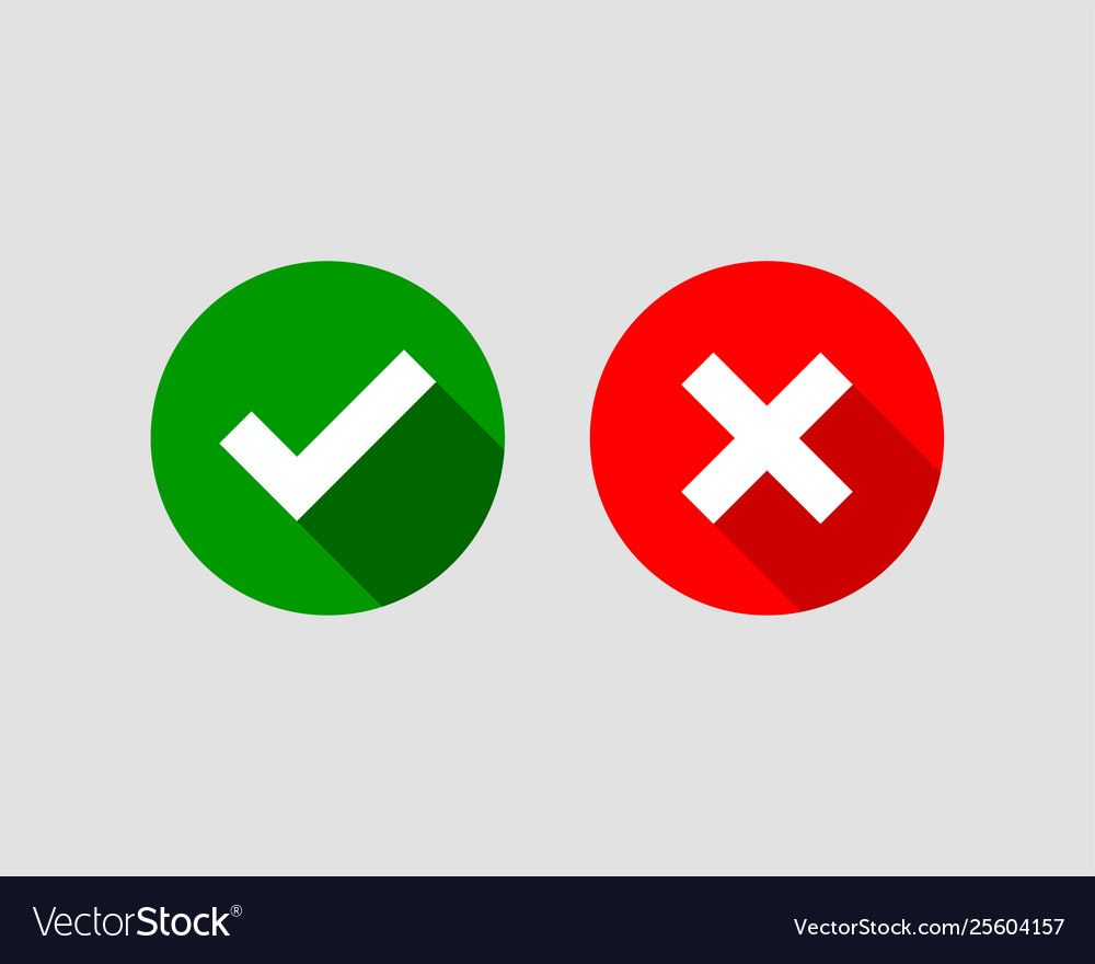 Cross And Check Mark Icon Symbol Set Royalty Free Vector Ad Mark Icon Cross Check Ad Papan