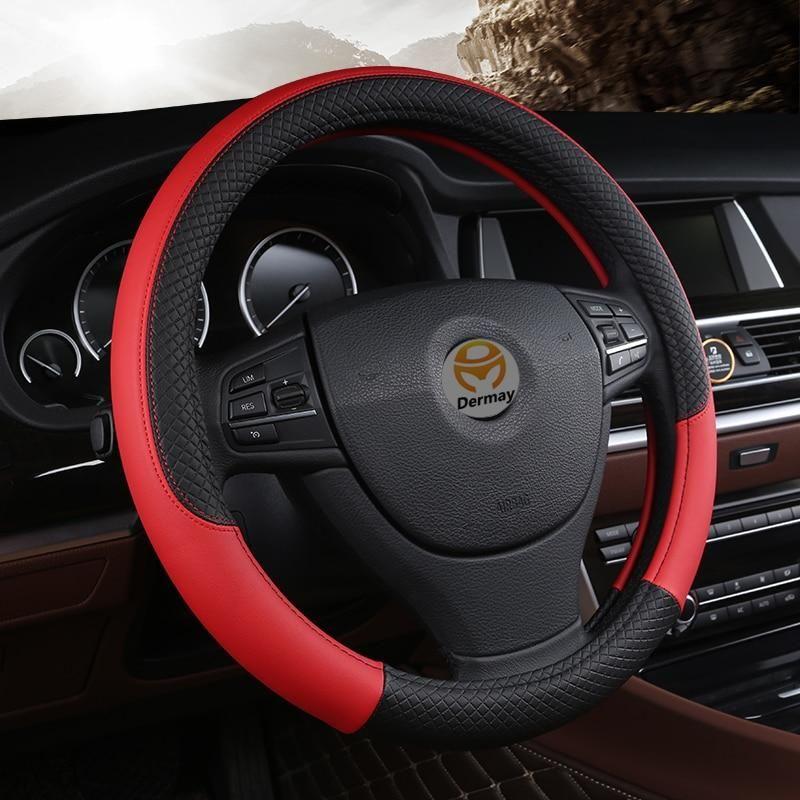 PU Leather Universal Car Steeringwheel Cover 38CM Car