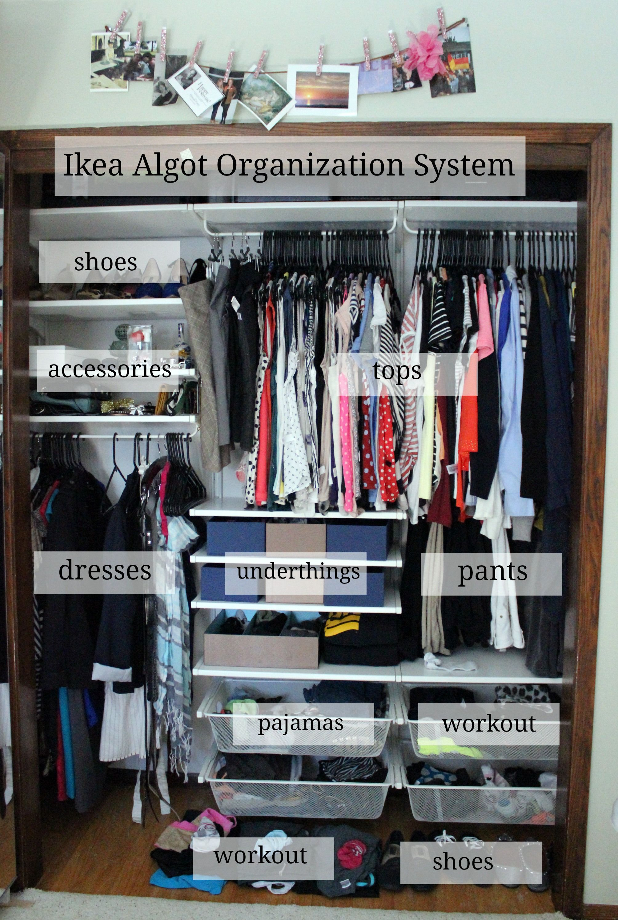 installing the ikea algot closet organizing system. Black Bedroom Furniture Sets. Home Design Ideas