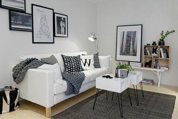 Wohnzimmer Teppich Grau Graue Decke Dekokissen