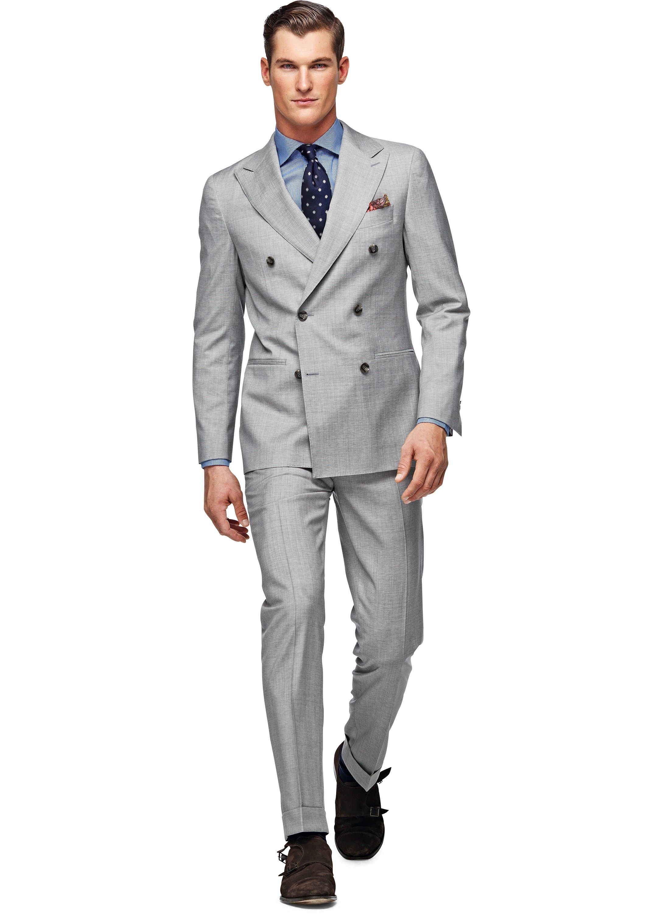 Suit Light Grey Plain Soho P3519 | Suitsupply Online Store | Men's ...