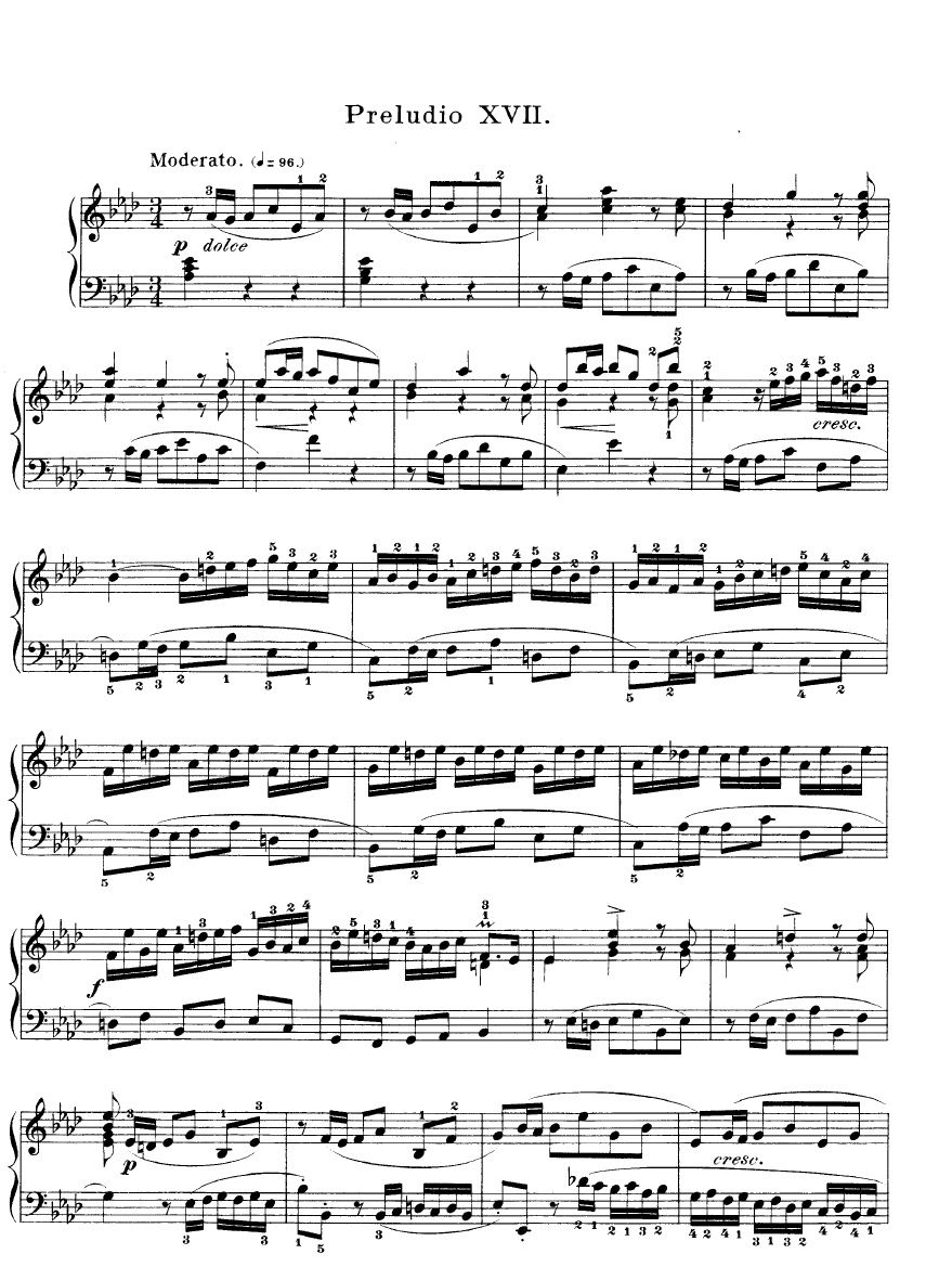 Prelude in A-flat Major (Piano Part)