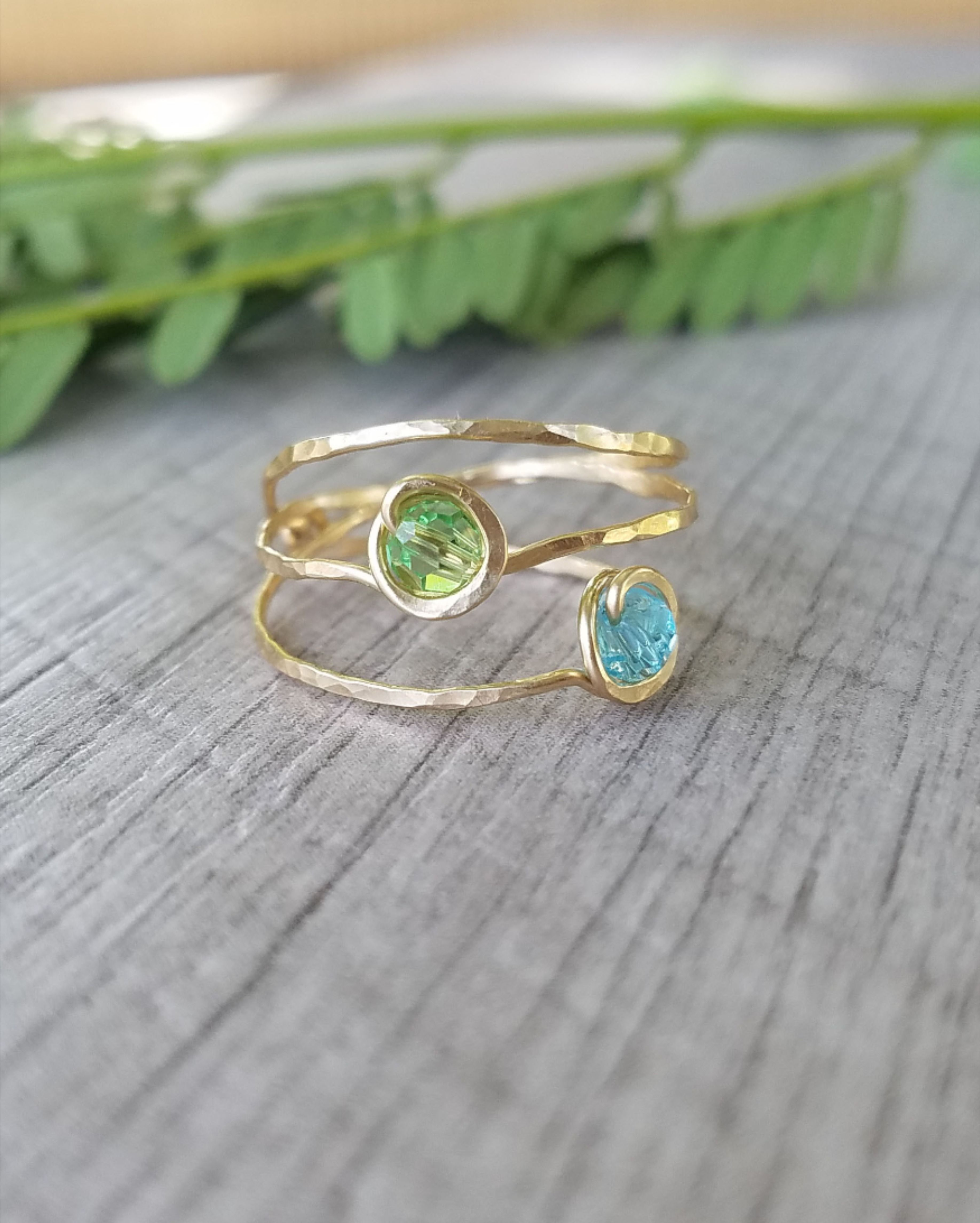 Gold Knot Ring Gold Filled Ring Stackable Rings Blue Zircon Infinity Ring Gold Infinity Ring December Birthstone Ring Mother/'s Ring