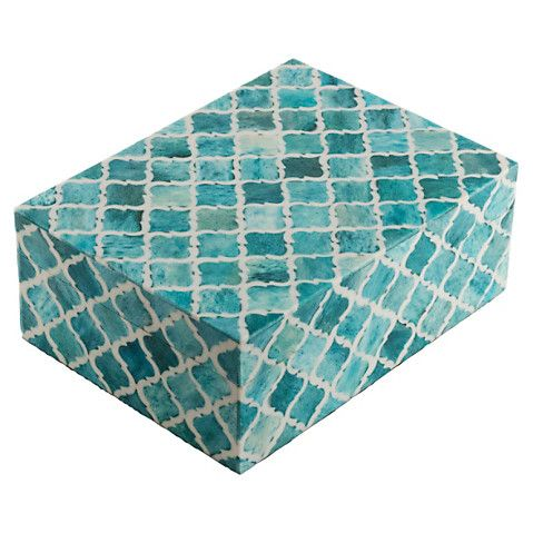 "8"" Moroccan Tile, Turquoise $69.00"