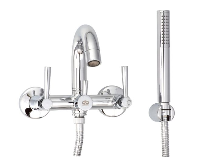 Fantasy Wall Mounted Bathtub Faucet With Hand Shower Baril