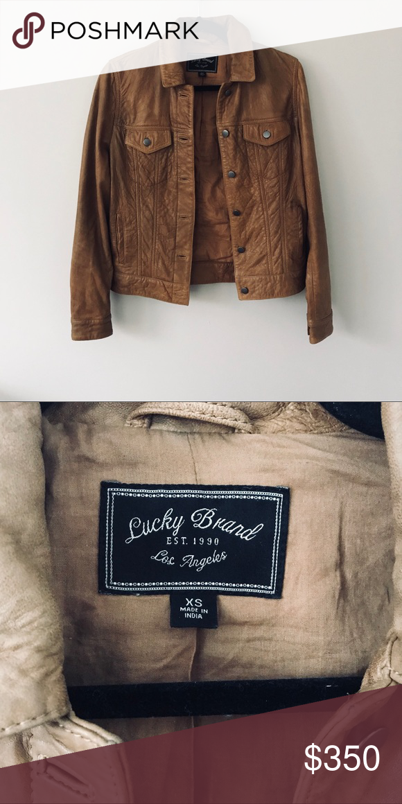 LUCKY BRAND Brown Leather Jacket 💰Purchased March 2017