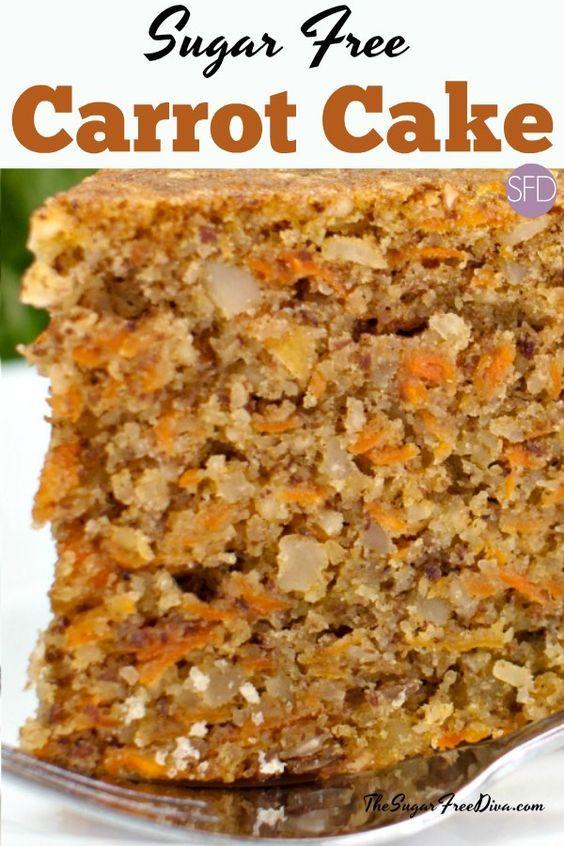 Sugar Free Carrot Cake Sugarfree Cake Recipe Diabetic Sugar