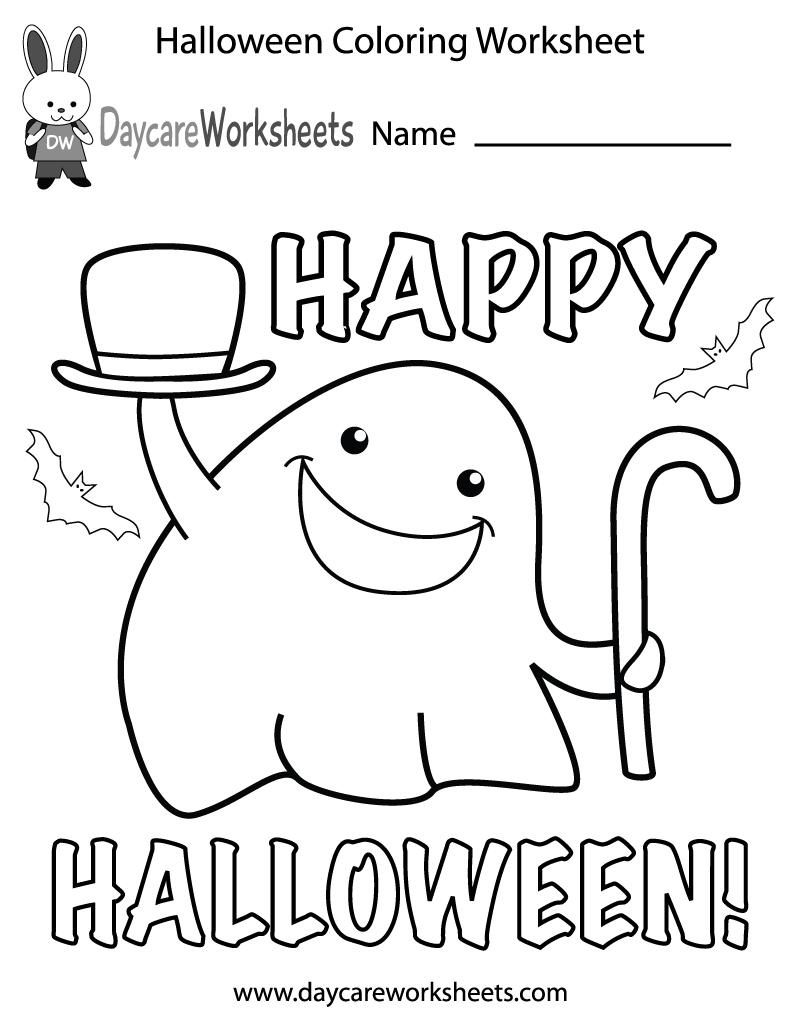 Free Preschool Halloween Coloring Worksheet Halloween Worksheets Halloween Preschool Halloween Coloring [ 1035 x 800 Pixel ]