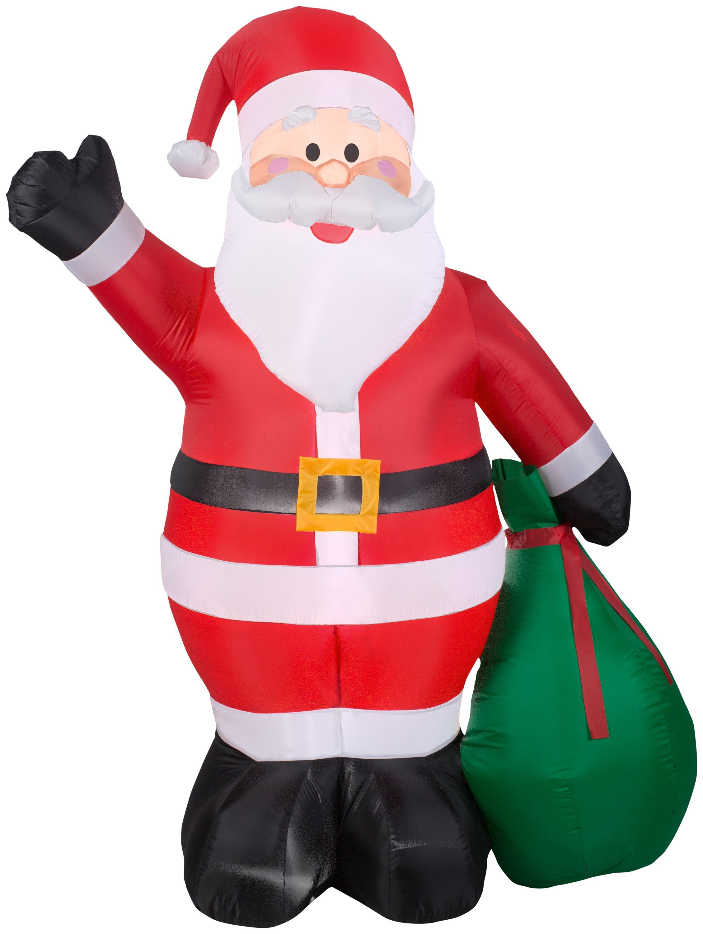 65u0027 Airblown Santa with Gift Sack Inflatable