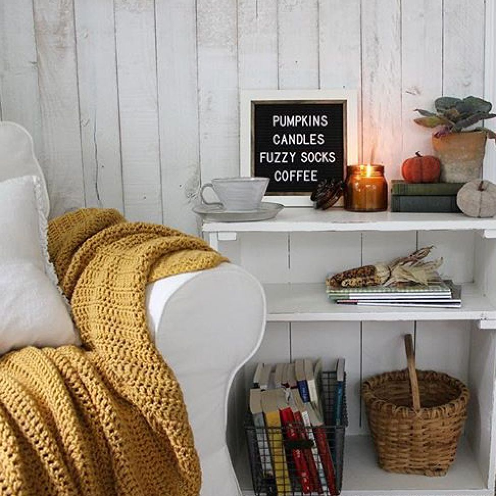 White Wash Wall Boards Help Create A Cozy Corner In This