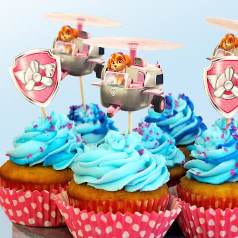 Decoraci n para cupcakes de skye de la patrulla canina - Decoracion de cumpleanos de la patrulla canina ...
