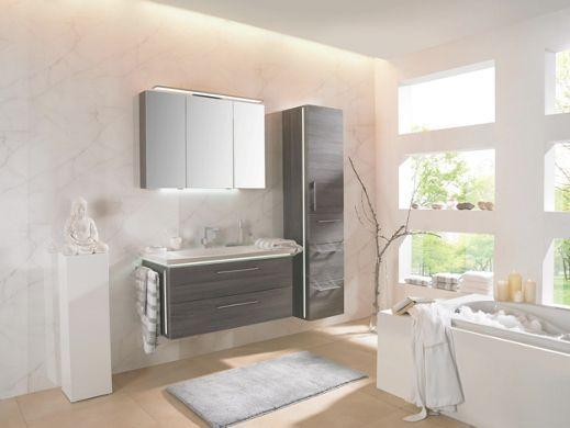 Elegantes Badezimmer modernes Design in stilvoller Kastanie - badezimmer modernes design