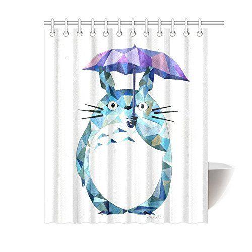 Shower CurtainGhibli Totoro DIY Custom Waterproof Polyes