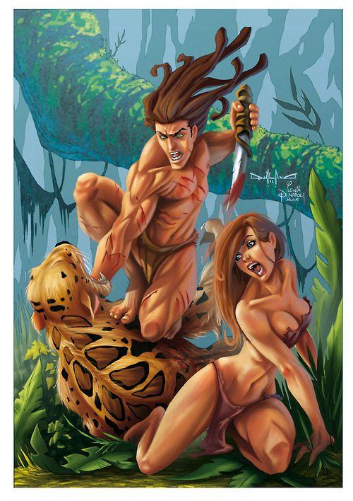 Tarzan vs sabre u pasquale qualano digital art tarzan fiabe y