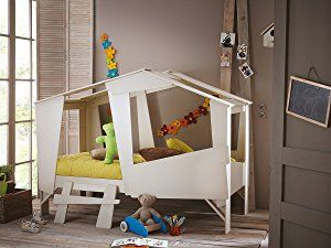 h hlenbett baumhausbett kinderbett bett baumhaus spielh hle beige rost kabane kids. Black Bedroom Furniture Sets. Home Design Ideas