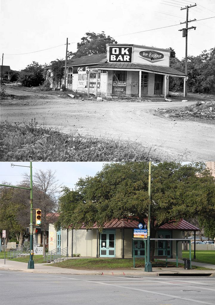 San Antonio Then And Now Image Heavy San Antonio Texas Downtown San Antonio San Antonio